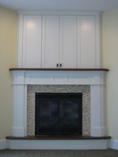 corner fireplace with tv cabinet