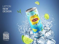 Lipton Ice Tea Redesign on Behance Ads Creative, Creative Posters, Creative Advertising, Advertising Design, Creative Design, Advertising Ideas, Tea Packaging, Food Packaging Design, Spices Packaging