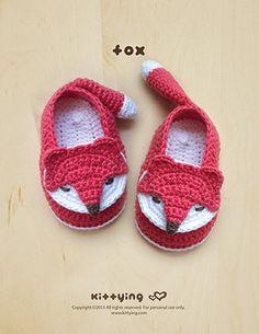 Patrón Crochet Patrón Fox bebé Botines Calcetines por meinuxing