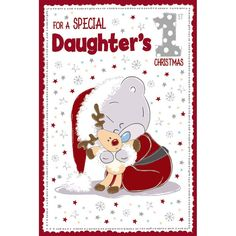 Daughters 1St Xmas Me to You Bear Christmas Card £2.49