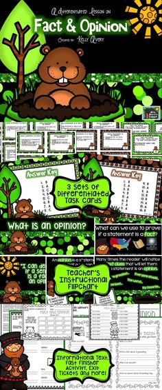 Groundhog Day Fact and Opinion Task Cards Reading Comprehension  Cross the curriculum and reach your standards in reading, science, and social studies with this resource! #teachersfollowteachers #teacherspayteachers #tpt #iteachtoo #education #learning #teachers