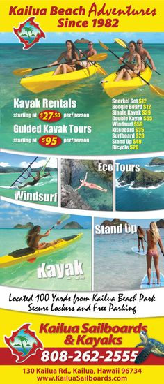 Kailua Activities - Things to do in and around Kailua Hawaii by KailuaVacationRentals.Net