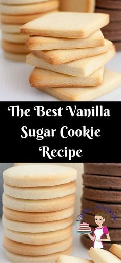 Vanilla Sugar Cookies are a favorite anytime treat weather you choose to decorate them or eat them just as is with a cup of tea. Based on my butter cookie recipe these are soft, crisp and buttery. They do not spread making them a great candidate for shaped and decorated custom cookies.