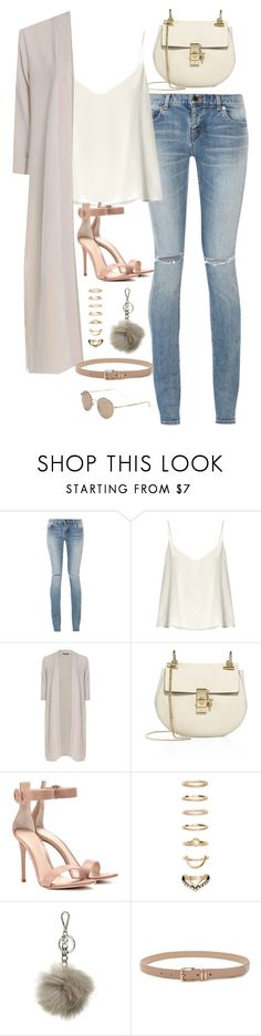 """Sem título #5003"" by fashionnfacts ❤ liked on Polyvore featuring Yves Saint Laurent, Raey, Boohoo, Chloé, Gianvito Rossi, Forever 21, MICHAEL Michael Kors and Gucci"