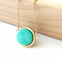 Druzy Pendant- I am loving this stuff right now.  I have a turquoise and a coral one that I LOVE for summer.