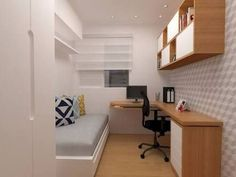 80 Fantastic Small Apartment Bedroom College Design Ideas and Decor 10 – Home Design Small Apartment Bedrooms, Small Apartment Design, Small Bedroom Designs, Small Room Design, Small Room Bedroom, Home Office Design, Small Apartments, Modern Bedroom, Bedroom Decor