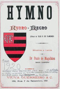 Flamengo: Dois hinos, mais de 150 canções - Revista Placar Football Brazil, Sports Clubs, Logos, Aqua, Facebook, Fotografia, Flamenco, A Logo, Water
