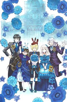 """Pandora Hearts Artbook """"There is"""" (when I first saw this picture , feels feels feels :´( )"""