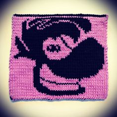Look, it's everyone's favorite armless, legless, neckless superhero! | 2016 Geek-A-Long: week 7 Rayman | knitting pattern with color chart; double-sided knitting, video games