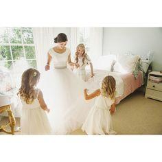 Modest wedding dress by Alta Moda.  Photo: Mikki Platt
