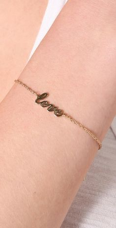 Jennifer Zeuner  Cursive LOVE Bracelet