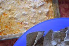 Buffalo Chicken Dip    This hot creamy, cheesey, slightly spicy dip is sinfully delicious!