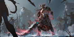 Tryndamere Level 1 Video Game Legends of Runeterra Tryndamere (League Of Legends) Wallpaper League Of Legends Charaktere, Cosplay League Of Legends, League Of Legends Personajes, Tomb Raider Cosplay, Riot Games, Fantasy Armor, Final Fantasy, Champions, Fantasy World