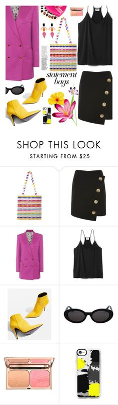 """Arm Candy: Statement Bags"" by hamaly ❤ liked on Polyvore featuring Topshop, Blazé Milano, Casetify, Toolally, outfit, ootd, trends and statementbags"