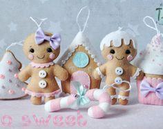 Ornamenti di Natale feltro Angel SET di 3 Natale di TiTics su Etsy