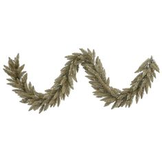 Vickerman K156414 Fir Garland with 250 PVC Tips, 9' x 14', Antique Champagne * Final call for this special discount  : Christmas Wreaths