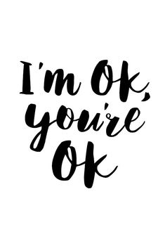 You are ok poster typography art wall decor mottos by MottosPrint