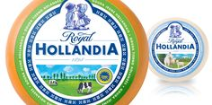 Packaging design for Royal Hollandia by Osborne Pike I Traditional Dutch everyday cheeses like Gouda and Edam have a rich provenance and taste variety but this is little known outside the home market.