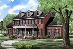Find your dream southern style house plan such as Plan which is a 3394 sq ft, 5 bed, 3 bath home with 3 garage stalls from Monster House Plans. Colonial House Plans, Colonial Style Homes, Southern House Plans, Southern Homes, Dream House Plans, House Floor Plans, Dream Houses, Bateau Rc, Monster House Plans