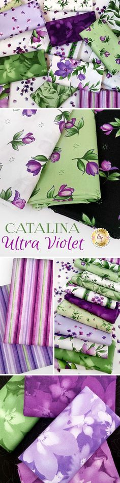 Catalina Ultra Violet by Marti Michell for Maywood Studio Fabrics is a beautiful fabric collection available at Shabby Fabrics
