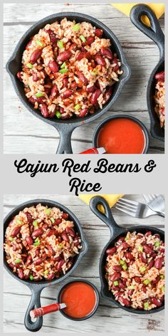 Classic Cajun Red Beans and Rice are a hearty, simple, and delicious one pan vegetarian meal with protein added options.