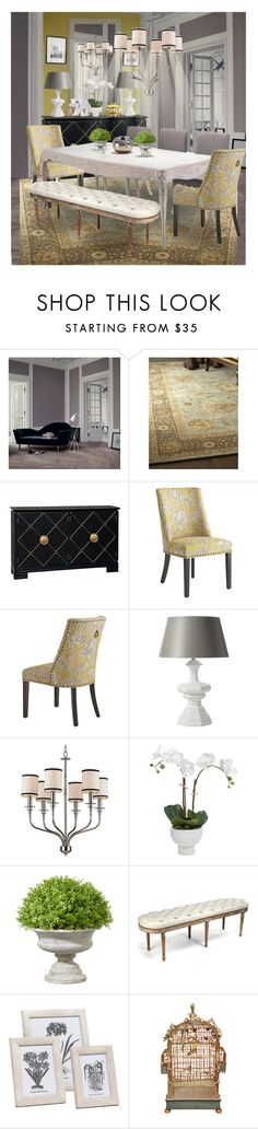 """""""Color Challenge: Yellow and Grey"""" by annmaira ❤ liked on Polyvore featuring interior, interiors, interior design, home, home decor, interior decorating, Gubi, Neiman Marcus, WALL and Black Orchid"""