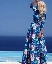 2c4dc1cfa1c YUOCL Hot Sale vestidos 2016 New Fashion Women Summer Dress Print Long Maxi Dresses  Beach Dress Long Sleeve Bohemian Dress