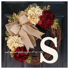 SPRING Door Decor Everyday Wreaths Wreath for Front Door Grape Vines, Grapevine Wreath, Vineyard Vines