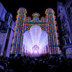 The Cathedral of Light at the Lichtfestival in Gent, Belgium 2012