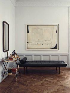 Gorgeous mid-century modern Stockholm apartment #art #chaiselounge #homedecor #interiordesign