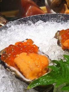kanoyama: oyster, uni, ikura