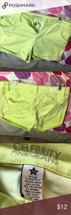 Shorts Lime green shorts . Celebrity Pink Shorts