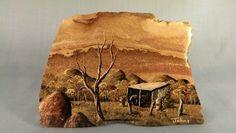 Hand Painted Rock Original BY Steve Johns   eBay