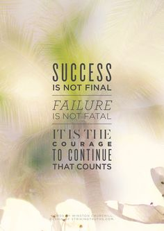 Failure is not the end of your life, only a small portion of it. So refreshing.