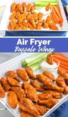 Air Fryer Buffalo Wings Family Fresh Meals, Easy Family Dinners, Quick Easy Meals, Yummy Chicken Recipes, Crockpot Recipes, Easy Recipes, Yummy Food, My Favorite Food, Favorite Recipes