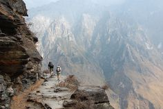 One for the snap happy: Tiger Leaping Gorge, China. -   A list of Asia's treks wouldn't be complete without mentioning one of China's most famous hiking trails. The 16km long gorge (25m wide at its narrowest point), is one of the world's deepest river canyons and offers two main walkways – down in the valley or high above. Located close to Lijiang in Southwestern China, the gorge is also host to China's longest river, the frothing Yangzi River, provides a great view from the surrounding peaks.