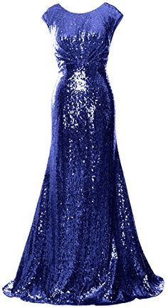 MACloth Women Mother of Bride Dresses Cap Sleeves Sequin Bridesmaid Formal Gown Sequin Bridesmaid, Bridesmaid Dress Styles, Bride Dresses, Applique Wedding Dress, Applique Dress, Camouflage Wedding Dresses, Sequin Gown, Formal Gowns, Long Gowns