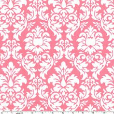 Michael Miller House Designer - Its a Girl Thing - Dandy Damask in Petal