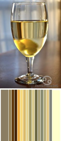 """If you look closely you can see Lemon Sorbet, brown, blue, gray and gray. Do you believe all the #color found just in this one glass of """"white"""" wine?"""