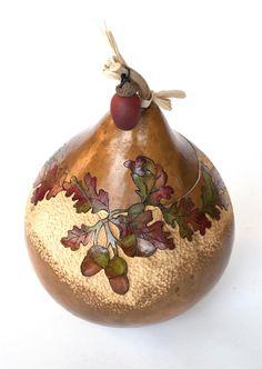 Fall Leaf Gourd