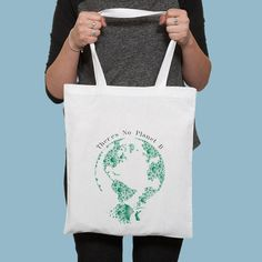 There's No Planet B Tote /Reusable Earth Shopper | Etsy