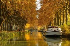 Canal du Midi in Southern France. The Canal du Midi is a 241 km long canal in Southern France (French: le Midi). Places To Travel, Places To Go, Le Canal Du Midi, Exposition Photo, Toulouse France, Canal Boat, Canal Barge, Visit France, Blog Voyage
