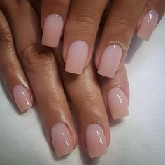 """If you're unfamiliar with nail trends and you hear the words """"coffin nails,"""" what comes to mind? It's not nails with coffins drawn on them. It's long nails with a square tip, and the look has. Hair And Nails, My Nails, Long Nails, Oval Nails, Glitter Nails, Pink Glitter, Manicure Y Pedicure, Manicure Ideas, Nail Ideas"""