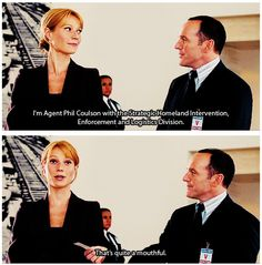 I wonder if S.H.I.E.L.D. agents' training includes memorizing the name. I thought he just says Agent Coulson, turns out he does say Phil.