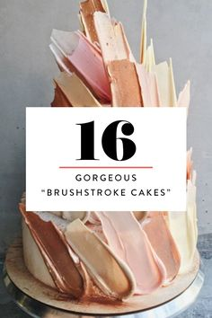 Top Chocolate Brushstroke Cakes C A K E Pinterest - Russian bakery uses brushstroke decorations to create the most amazing cakes