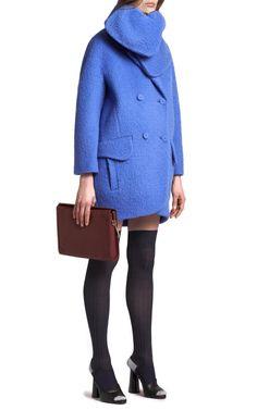 Hairy Drap Duffle Coat by  for Preorder on Moda Operandi