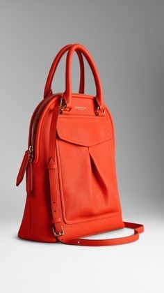 A structured tote in grainy leather with oversize pocket detail. An  artisanal design 6c4f943cebc