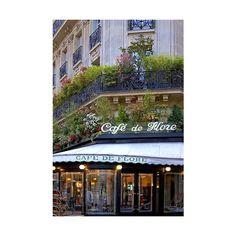 Rita Crane Photography Paris cafe bistro Left Bank Latin Quarter... ❤ liked on Polyvore