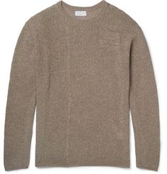 JOHN ELLIOTT Panelled Open-Knit Cotton-Blend Sweater. #johnelliott #cloth #knitwear
