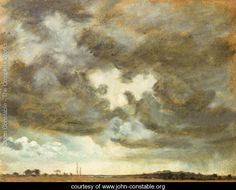 Giclee Print: A Cloud Study Art Print by John Constable by John Constable : Abstract Landscape, Landscape Paintings, John Constable Paintings, Art Studies, Find Art, Framed Artwork, Giclee Print, 19th Century, Oil On Canvas